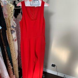 Trina Turk Red Pant Jumpsuit Size 6